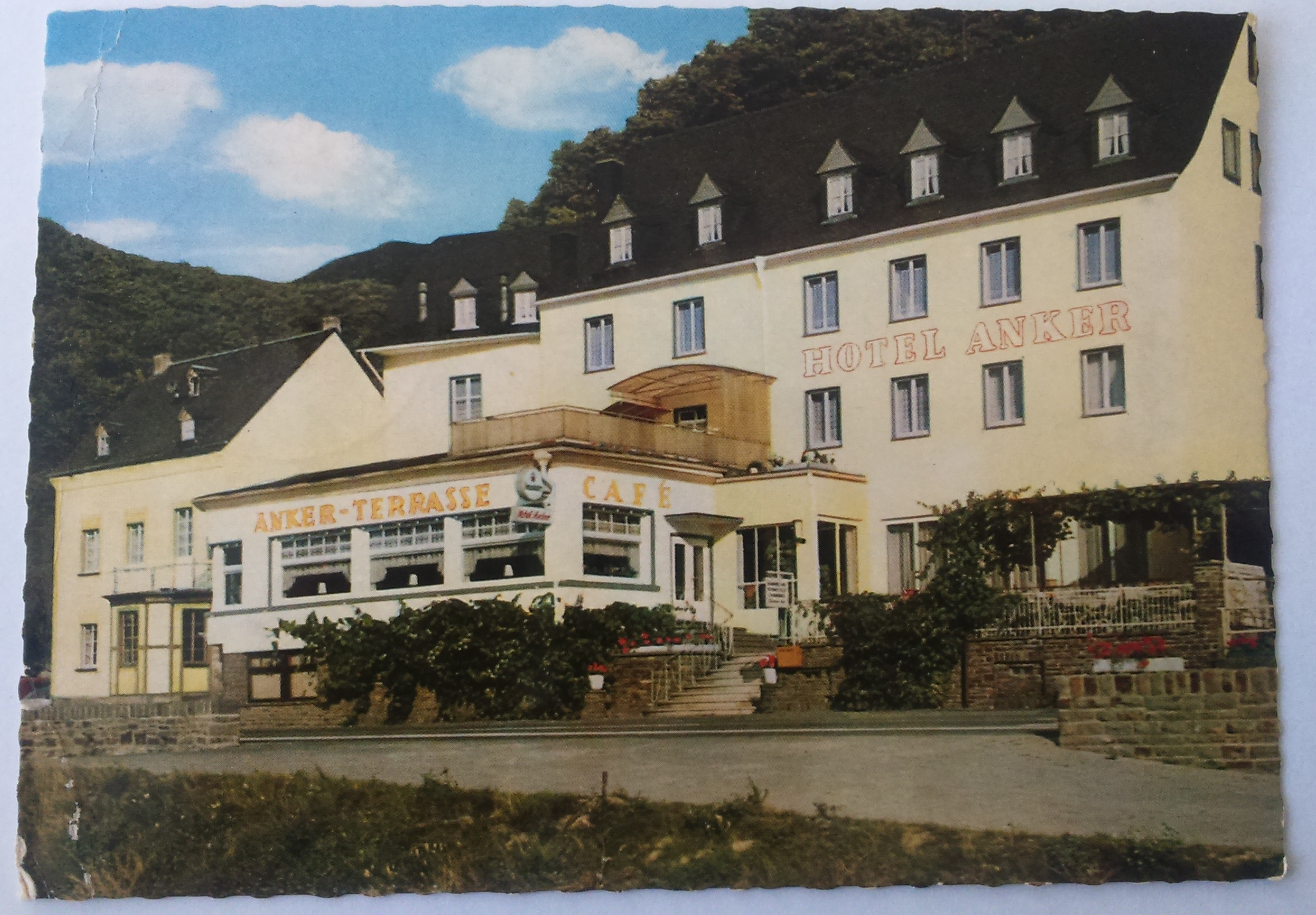 Hotel Ankerterrasse Bes. Willi Hannes Brodenbach 30.05.1968 front