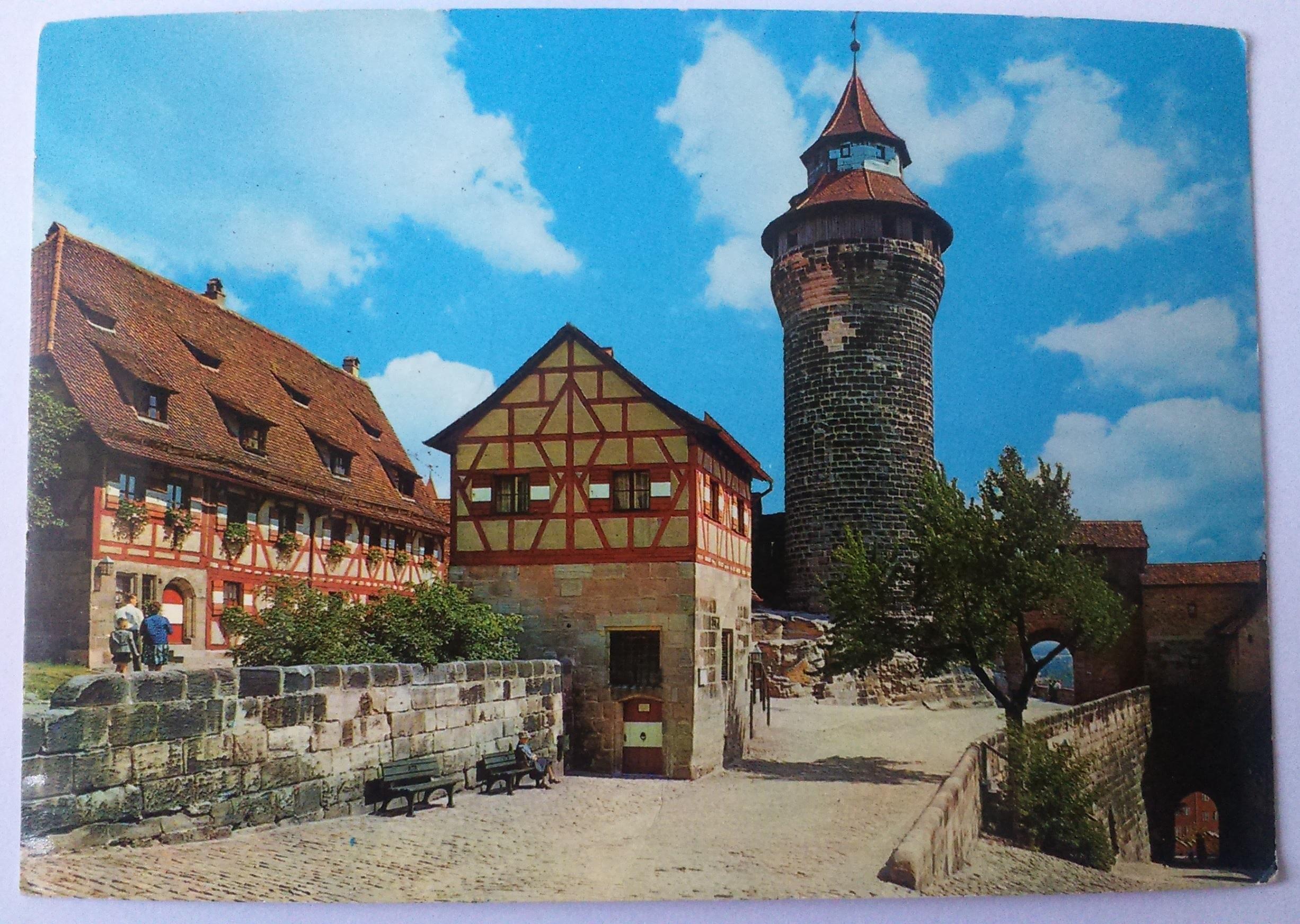 Nürnberg Sinwellturm - der Poststempel Egloffstein (25.08.1970) front