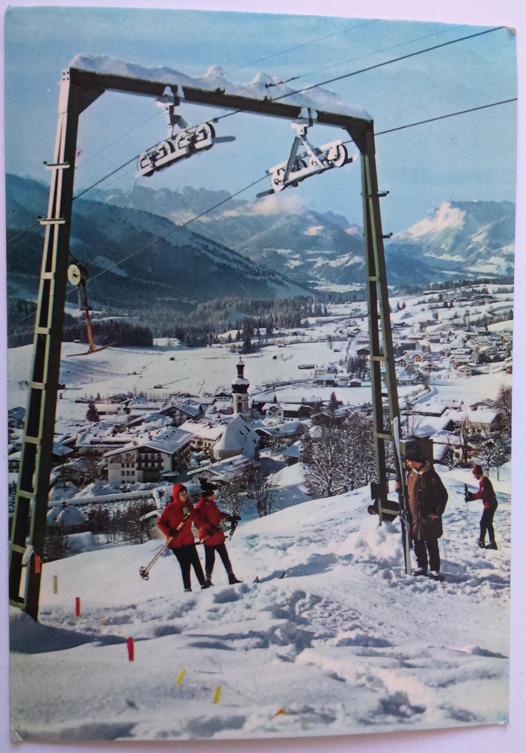 Reit im Winkl mit Kaisergebirge (12.03.1975) front