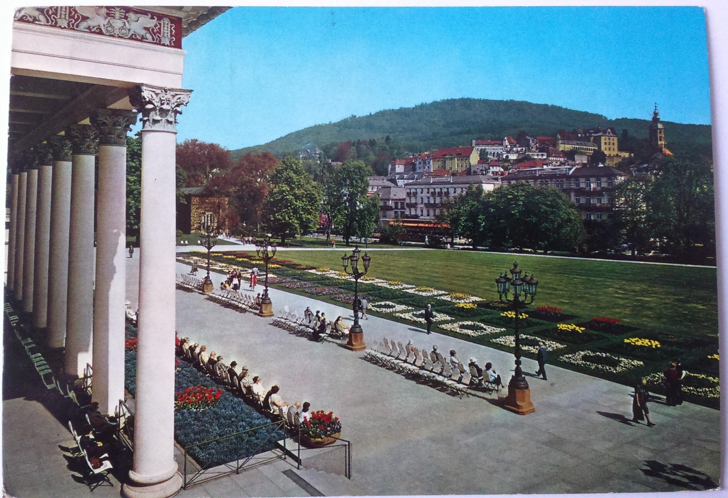 Baden-Baden Weltbald im Schwarzwald Blick vom Casino zur Stadt (07.09.1976) front