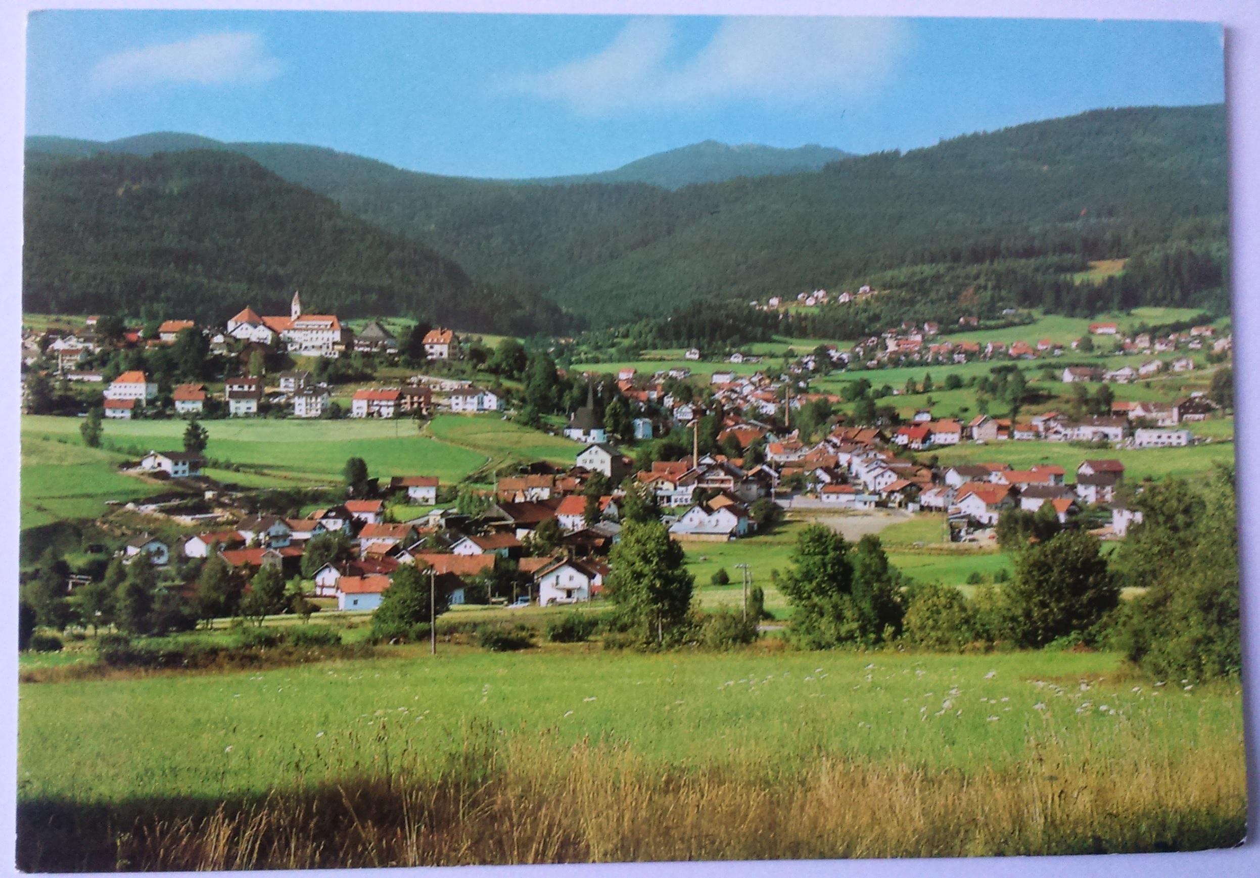 Höhenluftkurort Bodenmais im Bayerischen Wald mit Großen Arber - 1457 m (15.06.1976) front