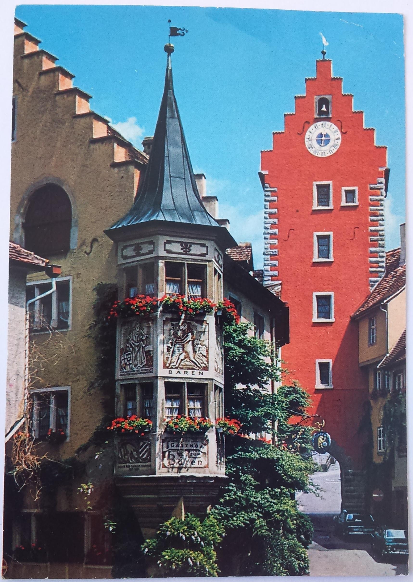 Meersburg am Bodensee Marktplatz mit Obertor (22.09.1990) front