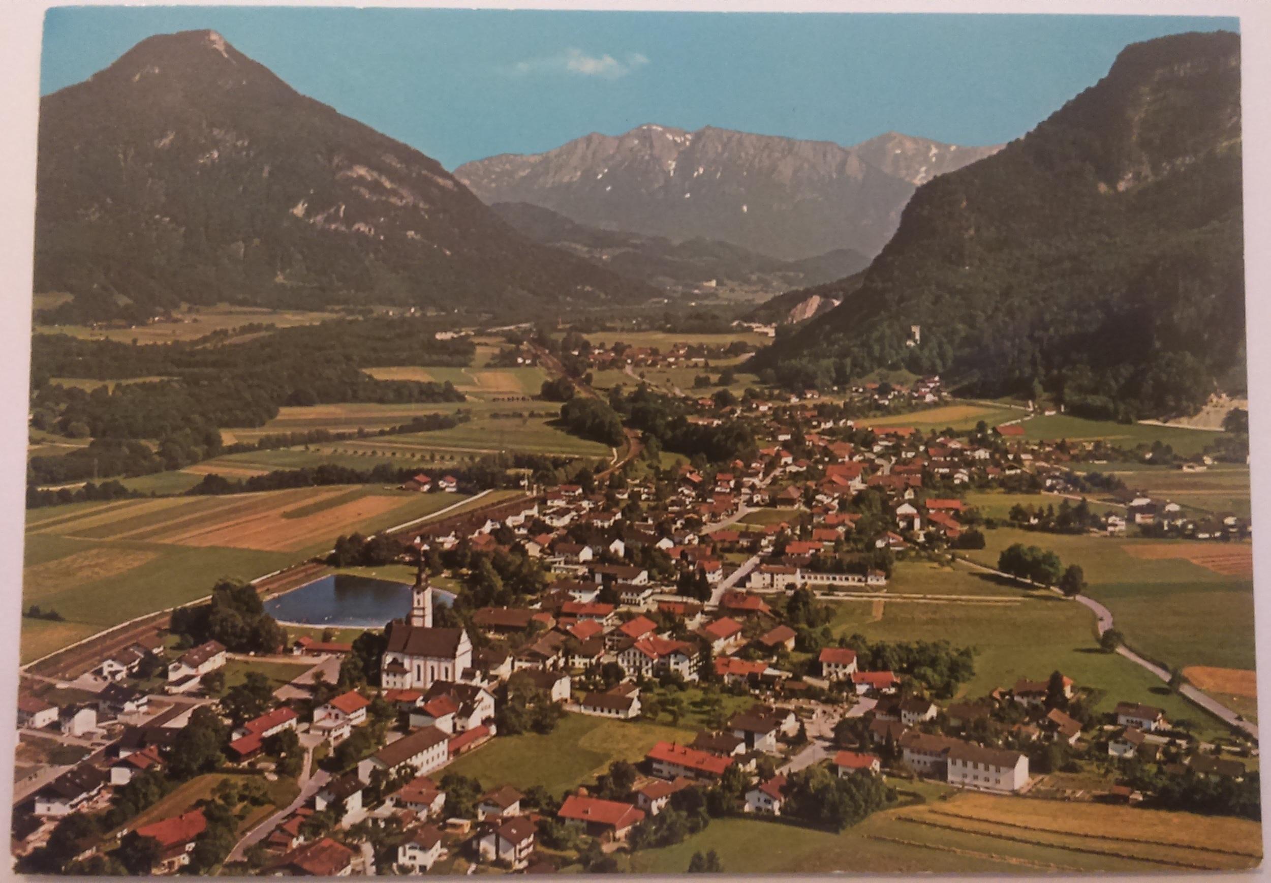 Flintsbach am Inn Luftkurort mit Kaisergebirge Bayerisches Inntal (10.07.1984) front