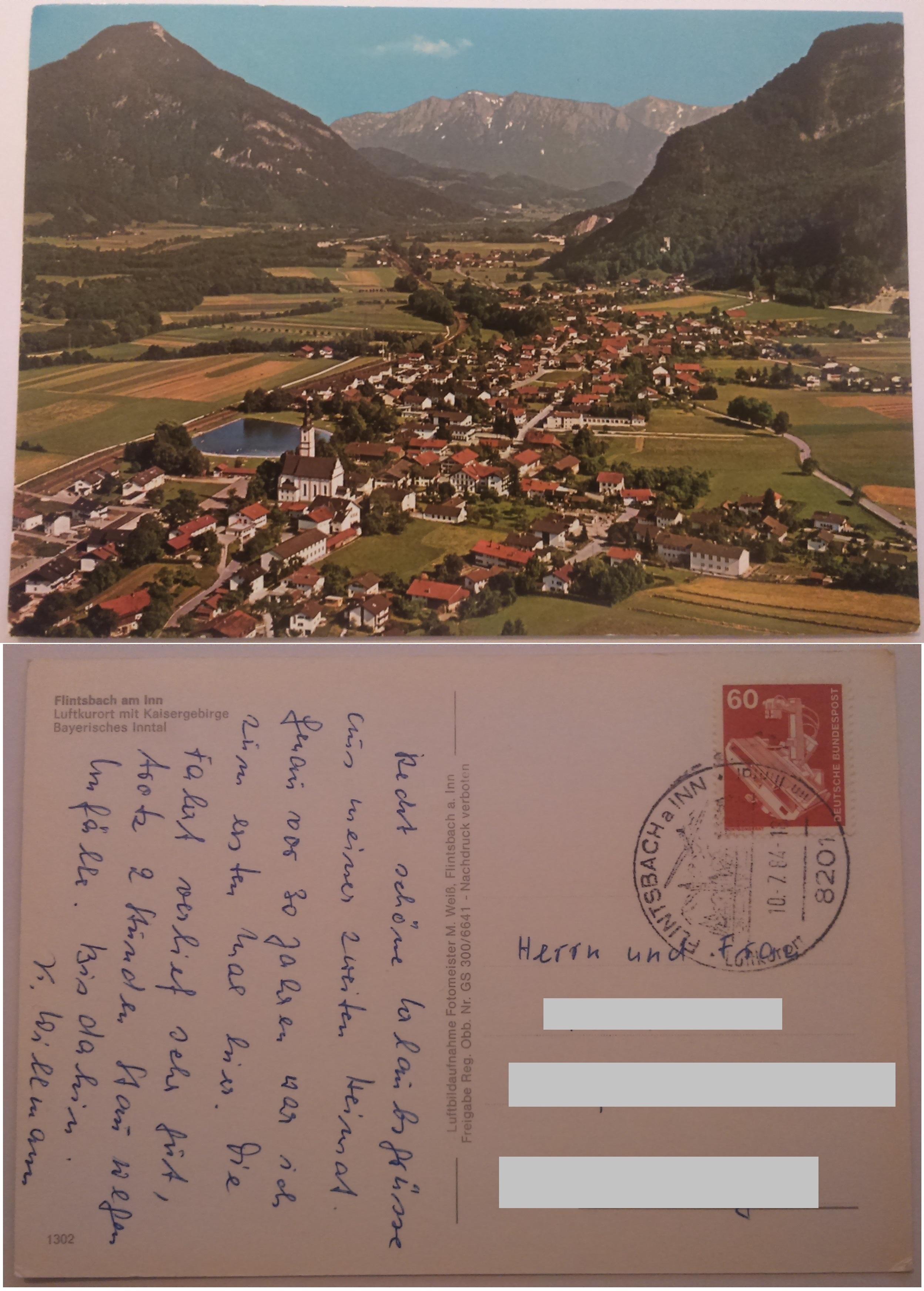Flintsbach am Inn Luftkurort mit Kaisergebirge Bayerisches Inntal (10.07.1984) both