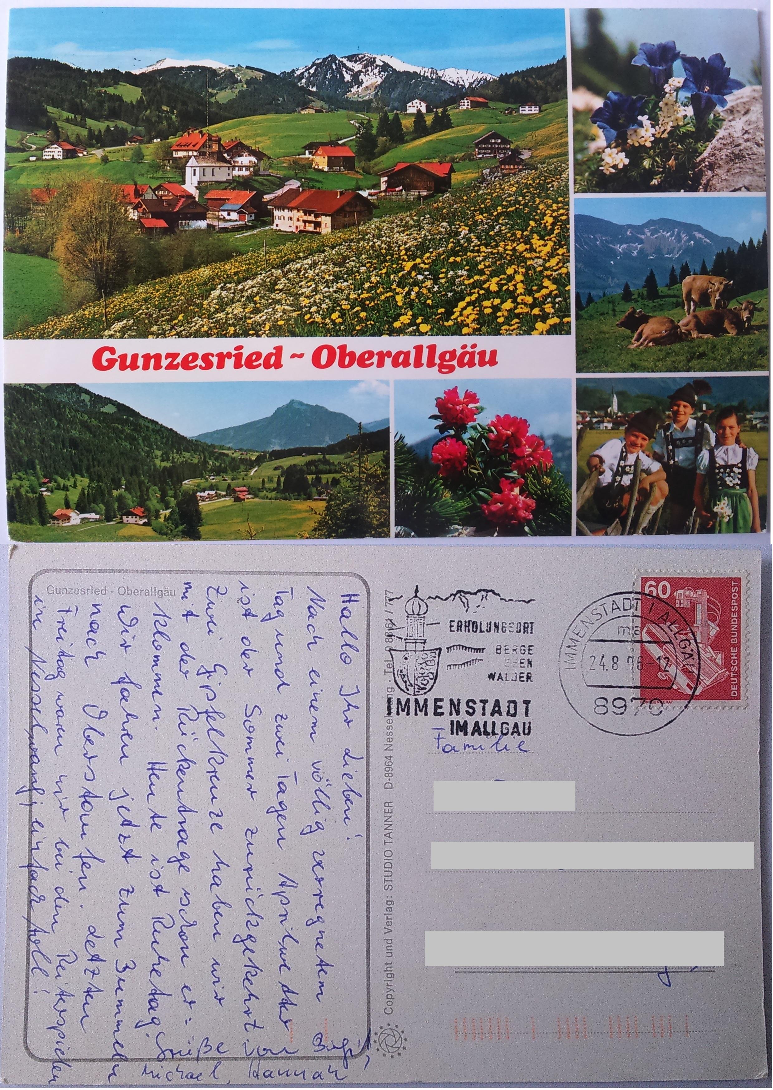 Gunzesried - Oberallgäu (24.08.1986) Immenstadt im Allgäu both