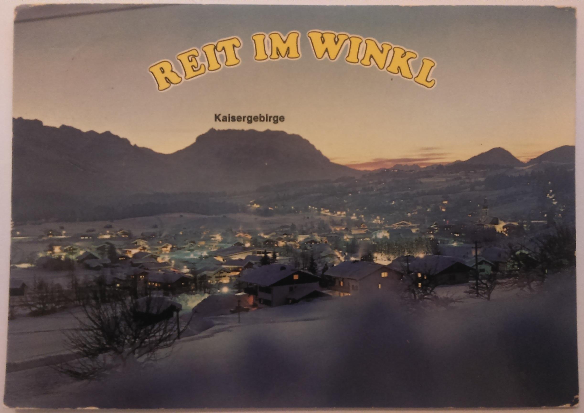 Luftkurort und Wintersportplatz Reit Im Winkl Oberbayern (07.03.1984) front
