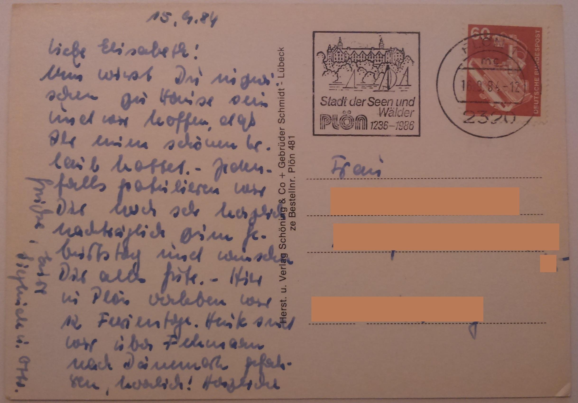 Plön am See (16.09.1984) back