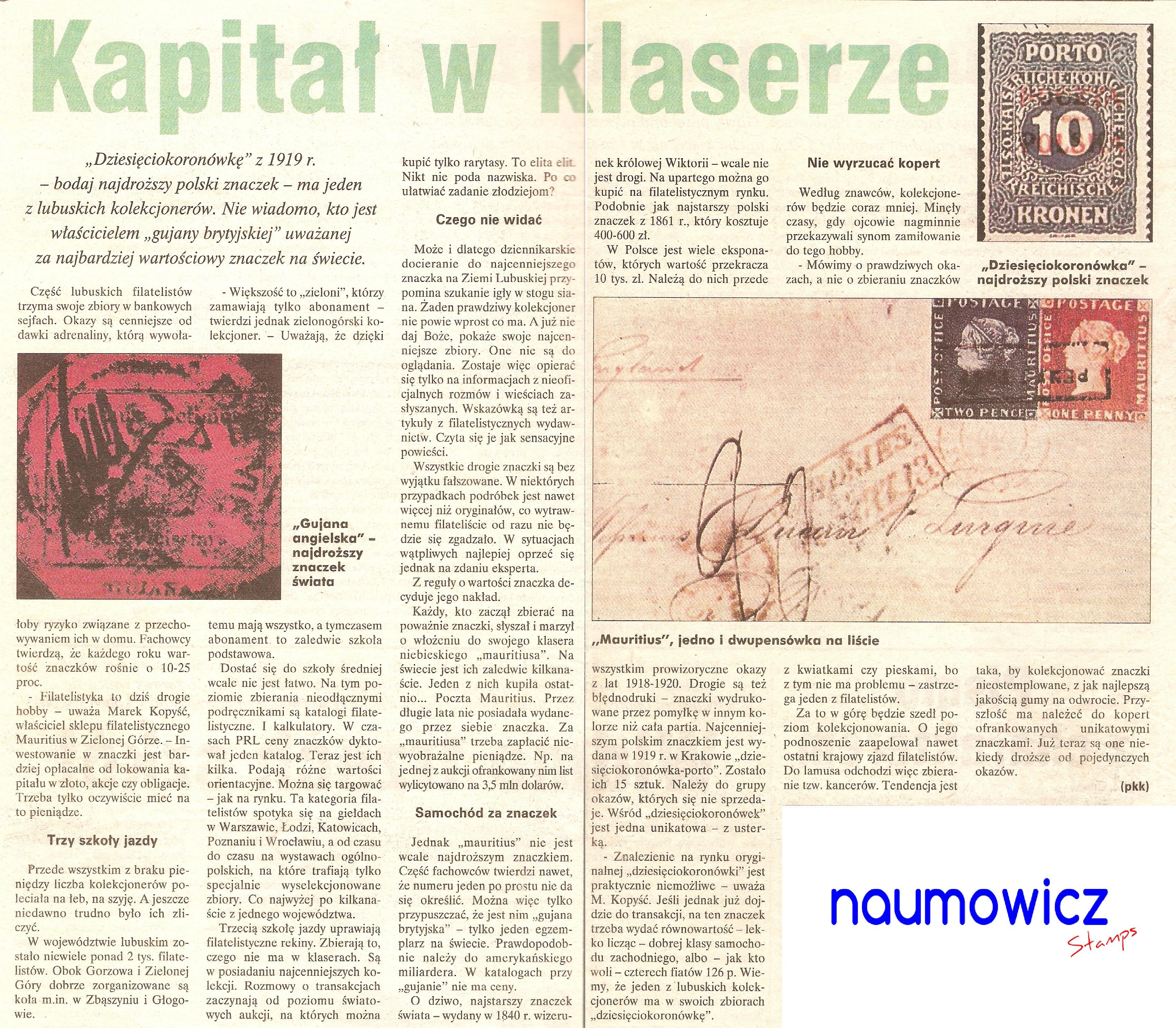naumowicz-stamps kapitał w klaserze